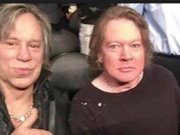 Mickey Rourke and Axl ROse