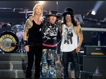 Guns N' Roses Axl Rose, Slash and Duff McKagan