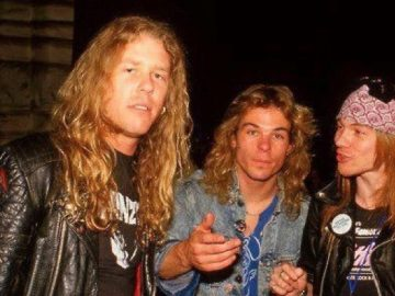 Axl Rose and James hetfield