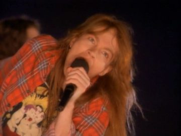 Axl Rose in the Don't Cry Video