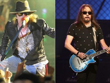Ace Frehley and Axl Rose