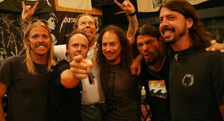 Foo Fighters and Metallica