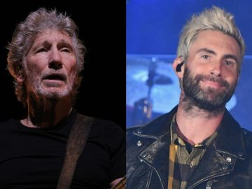 Roger Waters and Adam Levine