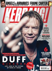 Duff on This Month's Cover of Kerrang! Magazine
