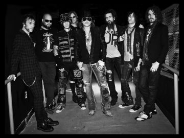 Axl Rose with the Chinese Democracy Lineup in 2011