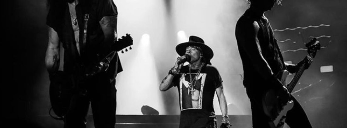 Axl Rose, Slash and DUFF of GUNS N' ROSES